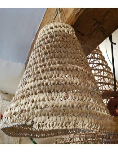 Suspension chapeau conique en palmier