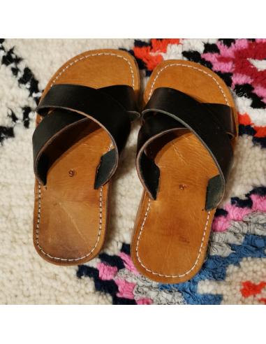 Sandale adulte 2 lanières en cuir...