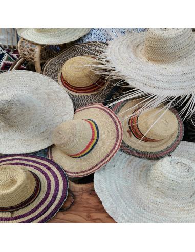 Chapeau de paille tissé du Ghana